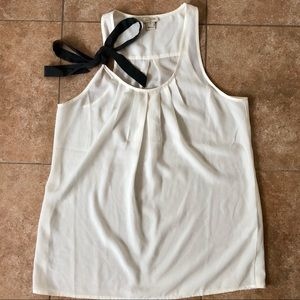 NWOT J Crew Tank Blouse Bow on Strap